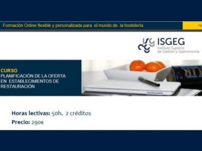 Curso online Planificación de la oferta en establecimientos Restauración- ISGEG