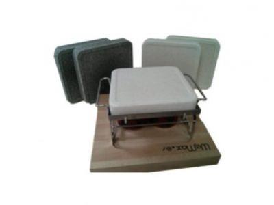 Paquete Inox WeMax con planchas de sal para cocinar